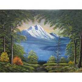 Obraz - Olejomaľba - Tajomná hora I. -  Ján Lupčo
