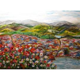 Obraz - Akryl - Lúčne kvety - Bc. Helena Vožňáková
