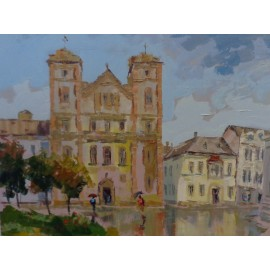 Obraz - Olejomaľba - Kostol premonštrátov - akad. mal. Varuzhan Aghamyan