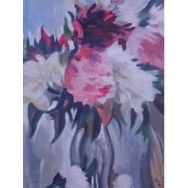 Obraz - Akryl - Chryzantémy - akad. mal. Varuzhan Aghamyan