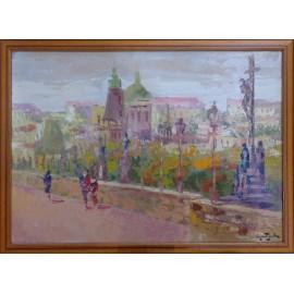 Obraz - Olejomaľba - Karlov most - Praha - akad. mal. Varuzhan Aghamyan