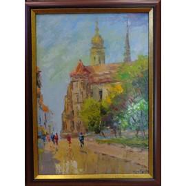 Obraz - Olejomaľba - Dóm z Hlavnej - akad. mal. Varuzhan Aghamyan