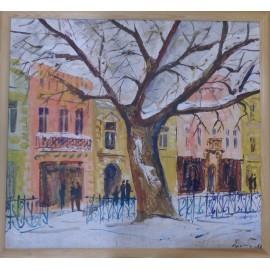 Platan v zime na Hlavnej - Ing. arch. Eva Lorenzová