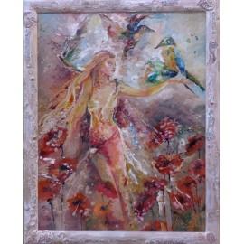 Lietajúca žena a papagáje - Daniela Petríková