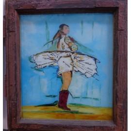 Obraz - Maľba na sklo - Tanečnica - Alexander Orlík