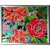 Obraz - Maľba na sklo - Kvety (abstrakt) - Jana Gubová