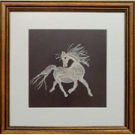 Obraz - Paličkovaná čipka - Kôň - Ing. Eva Kundríková