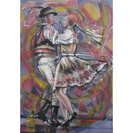 Obraz - Kombinovaná technika - Pieseň o tanci - Mgr. Art. Ľubomír Korenko