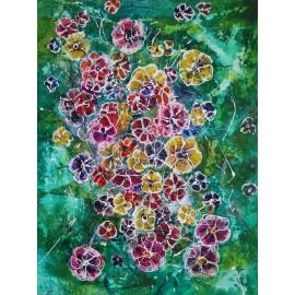 Obraz - Kombinovaná technika na plátne - Smaragdová lúka - Mgr. Art. Ľubomír Korenko
