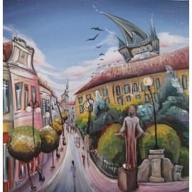 Obraz - Akryl na plátne - Prešov Kristus - Mgr.Lucia Chocholáčková